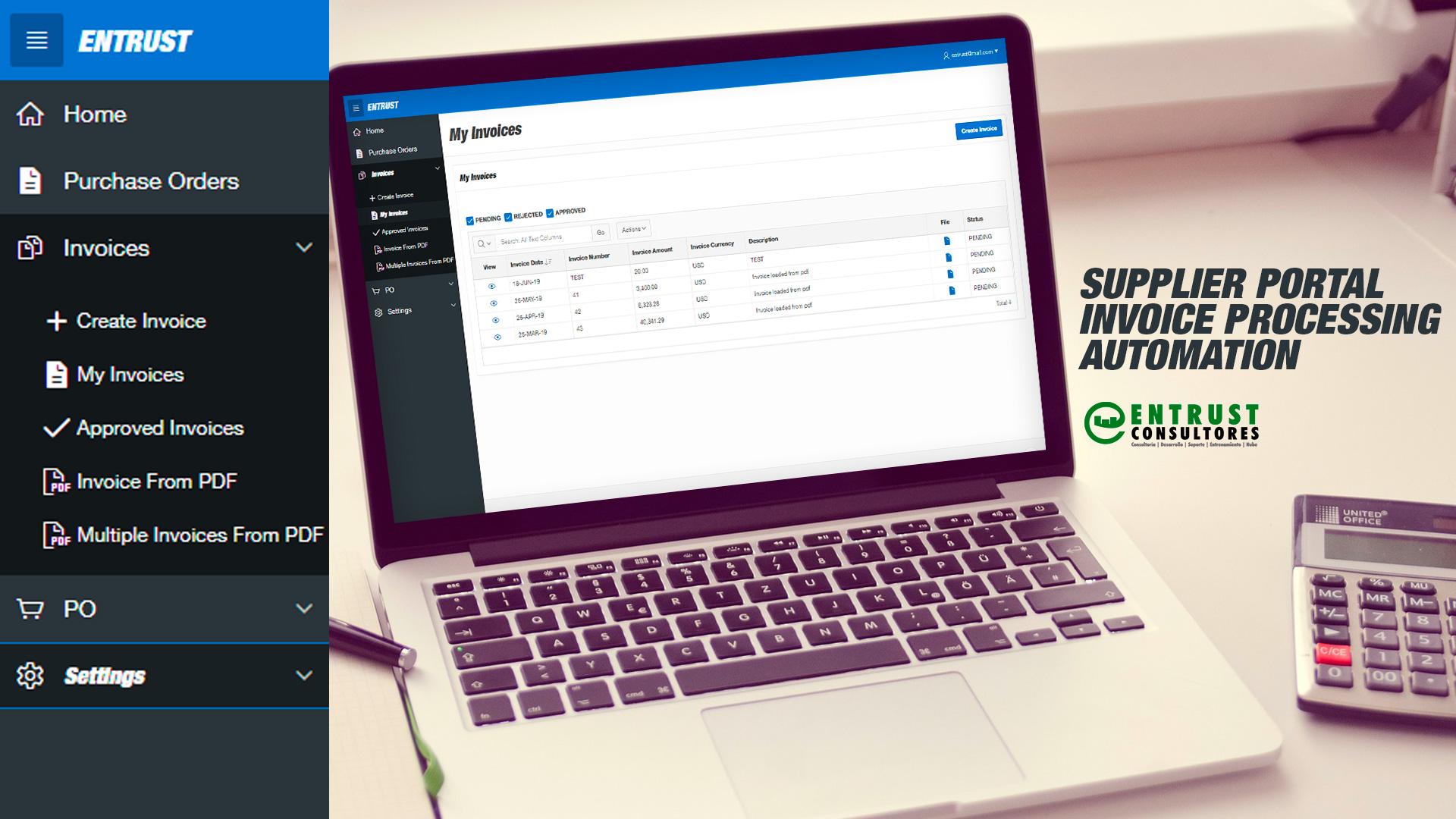 Portal de proveedores y procesador automatizado de facturas 1
